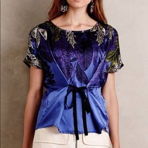 Anthropologie HD in Paris Callia Silk Blouse